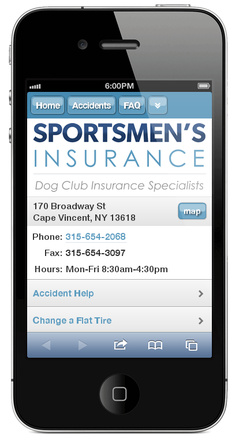 m.dogclubinsurance.com website preview